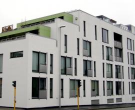 Byporten Sandnes- Miropan Fassadenfarbe(Tom Rønneberg)